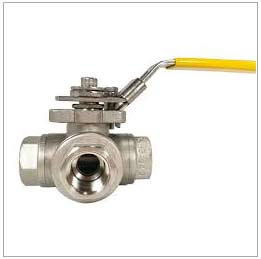 Stainless Steel 3 Way Actuated Ball Valve