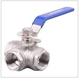 Alloy Steel ASTM A217 WC1 3 Port Ball Valve