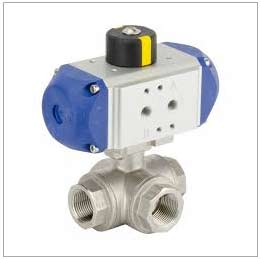 ASTM A217 Grade WC6 3 Way Electric Ball Valve