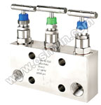 SS304/ 316L 3 Way Manifold Valves,Type 2 Direct Mounting