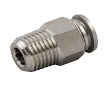 Push Metal Male ST Conector