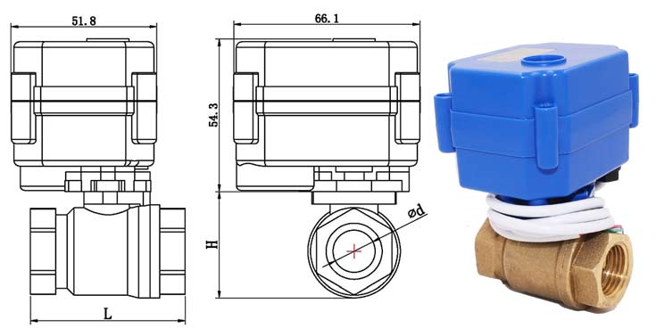 Brass Ball Valves dimensions