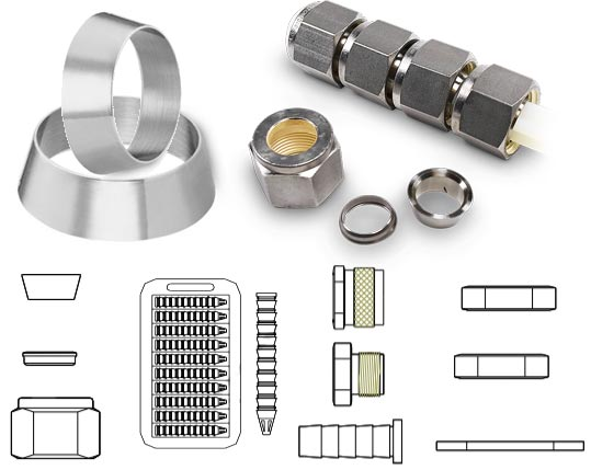 Nickel Alloy 800 Tube Fitting Accessories