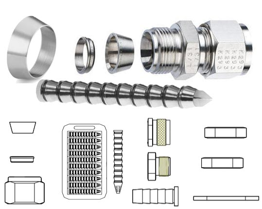 Incoloy 825 Din 2.4858 Tube Fitting Accessories
