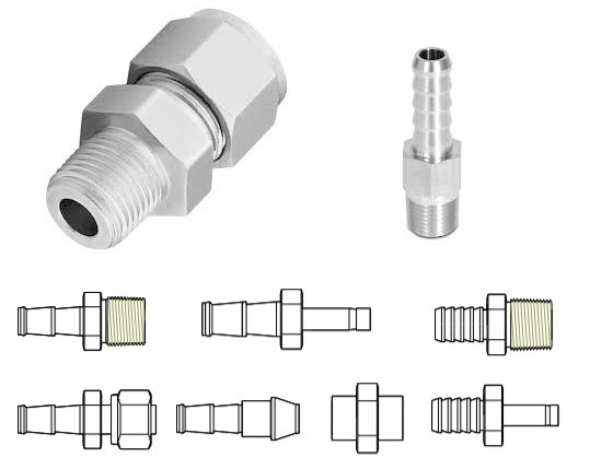 Werkstoff 2.4858 Incoloy Hose Fitting