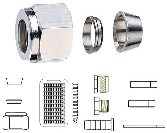 UNS N06625 Inconel 625 Tube Fitting Accessories