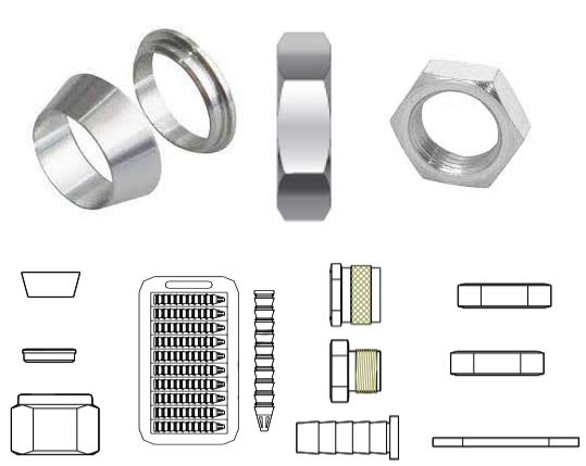 ASME SB166 UNS N06600 Tube Fitting Accessories