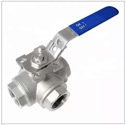 L port SS304 Stainless Steel Body 3 Way Ball Valve