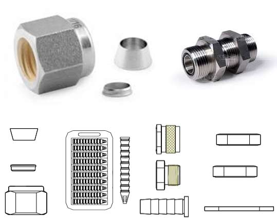 Monel UNS 4400 Tube Fitting Accessories