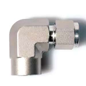 SS316 Double Ferrules Female Elbow Tube Fittings