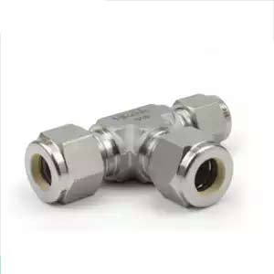 316 Stainless Steel Straight Double Ferrule Tube Fitting