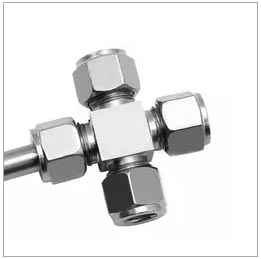 Instrument Compression Union Cross Tube Fitting