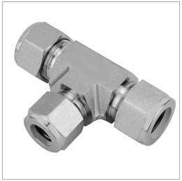 Metric male o-ring tee fittings joints